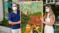 """Na meer dan honderd uren werk, Antwerps duo verkoopt Lam Gods in mosvorm: """"Richtprijs: 15.000 euro"""""""