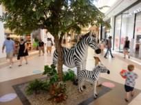 Shoppers zoeken verkoeling