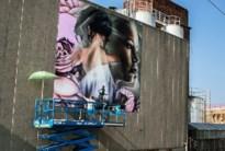 Indrukwekkend graffitikunstwerk voor Julie Van Espen aan Vaartkaai