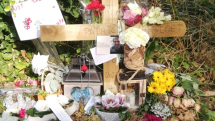 Ketting hangt terug op herdenkingsplek Patrick Vervloet