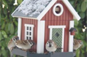 Vrolijk designhuis voor vogels en vlinders
