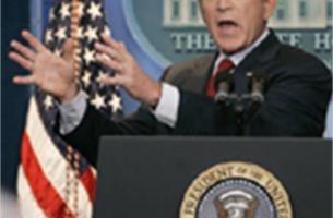 Amerikanen zijn Bush beu