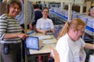 Belgische werknemer gaat met plezier naar het werk