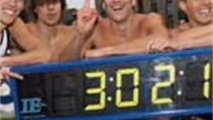 Record en Olympische limiet voor 4x400 meter-ploeg