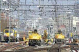 Tijdelijk 75 procent minder staal- en autotreinen