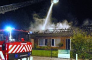 Nieuw saunacomplex gaat in vlammen op