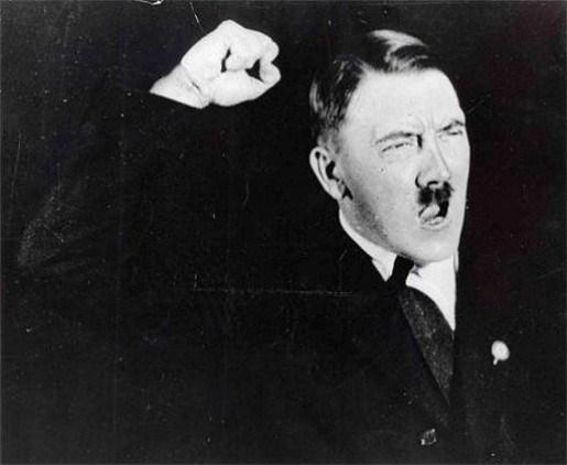 Winderige Hitler had geen manieren aan tafel