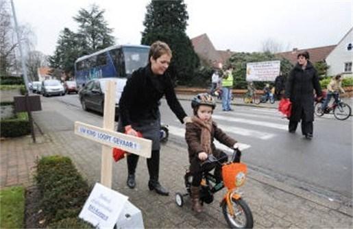 Protest tegen mestinstallatie