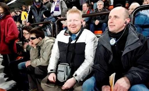 Live commentaar voor blinden tijdens Anderlecht-Germinal Beerschot