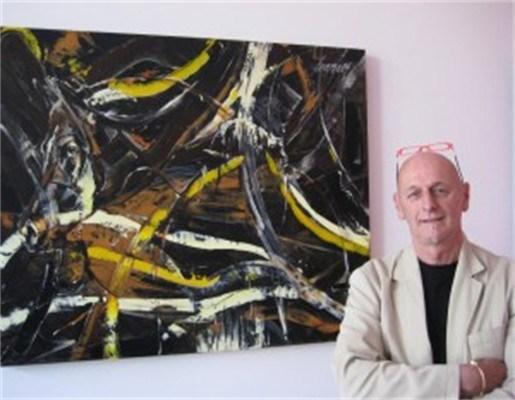 Abstracte kunst van schilder Leo Lemmens in de Theo Gallery in Antwerpen