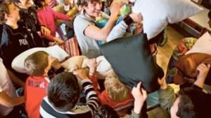 Koen Wauters vecht met kussens