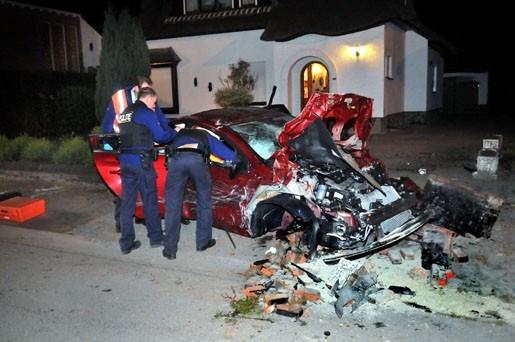Dronken chauffeur veroorzaakt ravage
