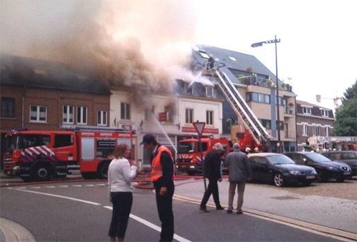 Bewoners gered na zware winkelbrand in Lanaken