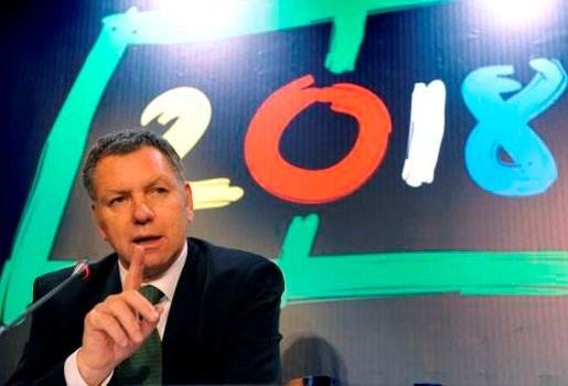 """""""Onze kansen voor organisatie WK voetbal 2018 stijgen"""""""