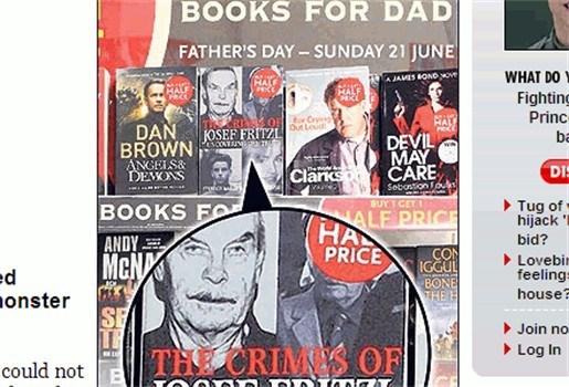 Boek Josef Fritzl in promotie voor Vaderdag