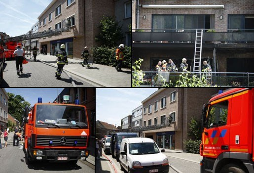 Woningbrand in Waasmunster