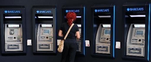 Londense bankautomaten die sappige slang praten