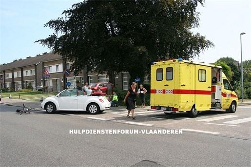 Ongeval met fietser op Cauwenburg