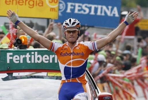 Lars Boom wint solo in Vuelta