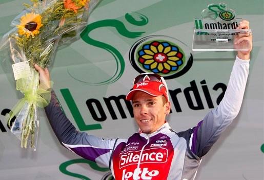 Philippe Gilbert wint ook Ronde van Lombardije