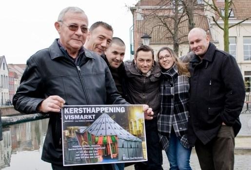 Horeca-uitbaters Vismarkt houden kersthappening