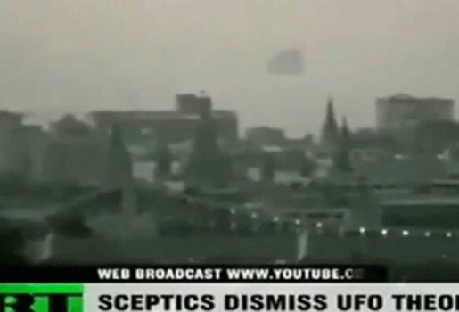 """Ufo"" vliegt over Moskou (video)"