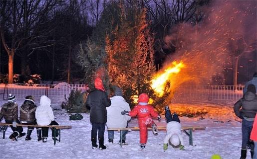 Kerstboomvuur vroegtijdig gedoofd
