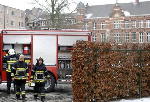 Brand in O-L-V-Presentatieschool in Sint-Niklaas