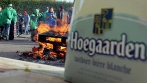 Ook staking in brouwerij Hoegaarden