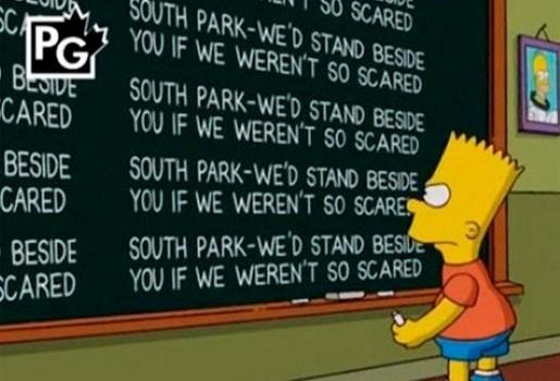 The Simpsons steunen South Park-makers