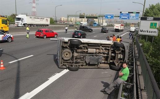 Ongeval op ring in Merksem zorgde voor zware hinder