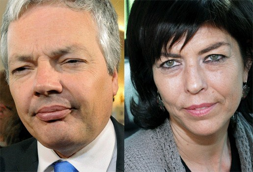 Didier Reynders en Joëlle Milquet in de clinch