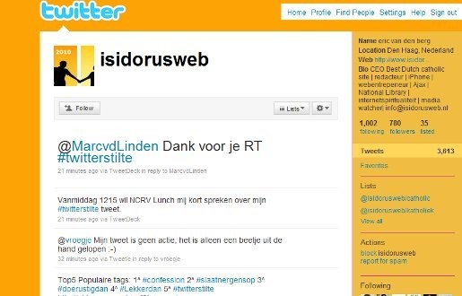 Nederlanders roepen op tot Twitterstilte
