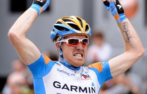 Tyler Farrar wint tweede rit Giro, Evans nieuwe leider