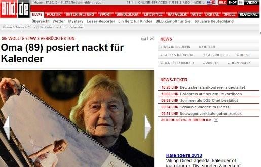 Oma (89) poseert naakt voor kalender