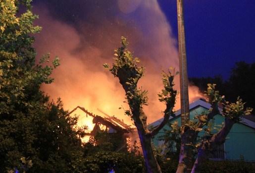 Woning volledig vernield door brand in Hemiksem