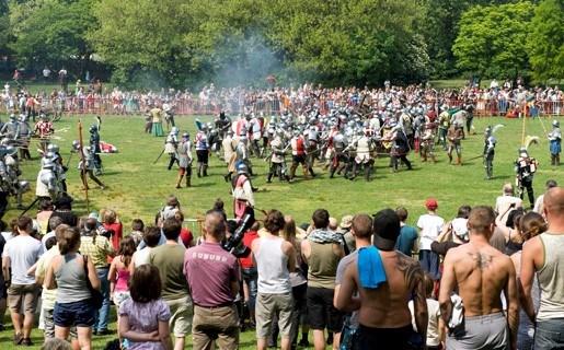 Middeleeuwse veldslag in Rivierenhof