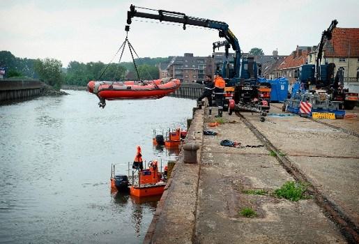 9 kilometer stookolie op Schelde in Wetteren
