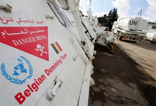 Belgische militairen tijdelijk niet actief in Libanon
