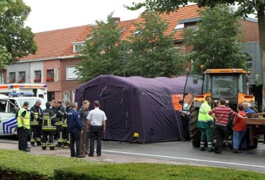 Tractor grijpt voetganger in Hoogstraten