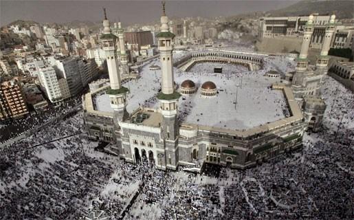 Nulmeridiaan door Mekka
