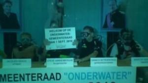Gemeenteraad Bredene gaat door onder water