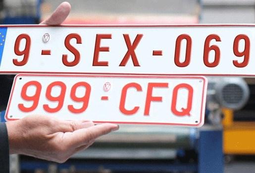 1.000 euro voor gepersonaliseerde nummerplaat