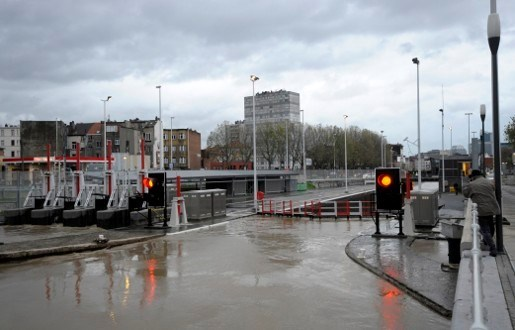 Hinder bij spoorverkeer door wateroverlast