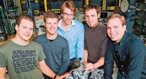 Studenten bouwen racewagen