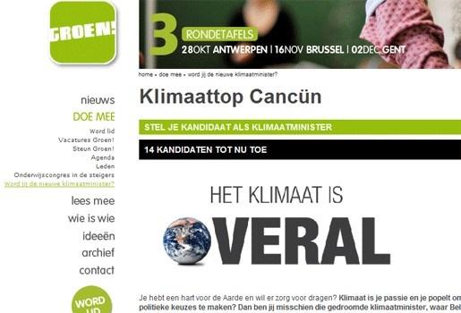 Stel je bij Groen! kandidaat als nieuwe minister van Klimaat