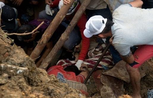 Grondverschuiving in Colombia: 200 mensen bedolven