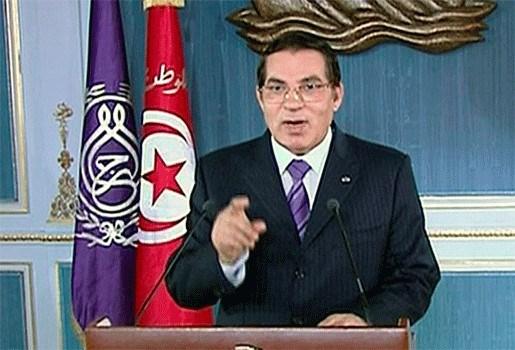 President Ben Ali belooft Tunesiërs beterschap, Belgen geëvacueerd