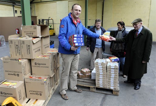 Voedselbank krijgt lading havermout