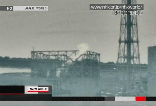 Geen verhoogde radioactiviteit na rookpluim boven reactor 3